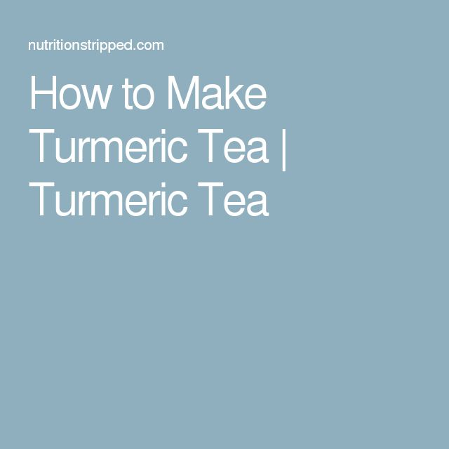 How to Make Turmeric Tea | Turmeric Tea