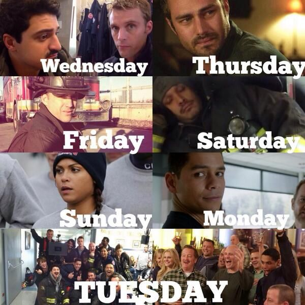 a typical week of a Chicago Fire fan =)