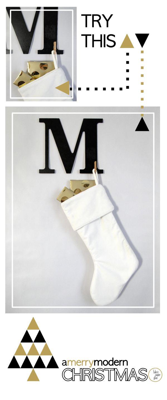 Modern Monogram Stocking Hanger