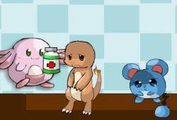 En el hospital de Pokémon tienes que curar a todos los Pokemon que necesiten ayuda médica. Tienes un tiempo limitado para servir fármacos a los Pokémon enfermos. ¡Hay cuatro niveles diferentes para jugar!. ¿Podrás curar a todos los Pokémon?.