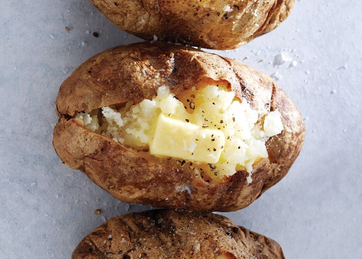 Perfect Baked Potato - Bon Appétit. Olive oil, salt and pepper. Bake directly on rack for one hour. Simple and delicious!