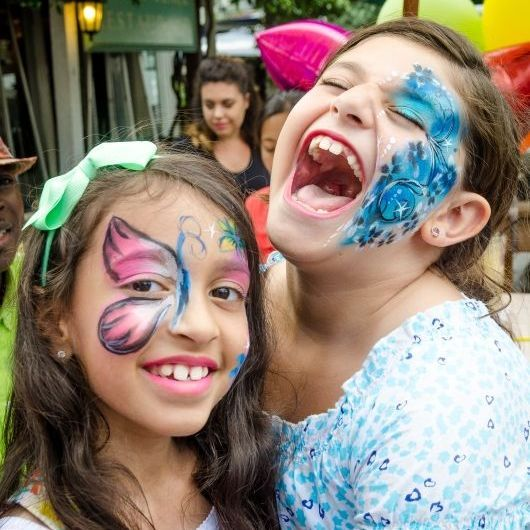 Big smiles with face painting by JoJoFun - available for your event in Toronto!