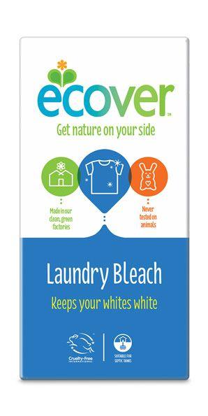 ECOVER fehérítő mosószeradalék - nincs benne optikai fehérítő és egyéb allergén összetevő. Öko termék. (Új csomagolás.)