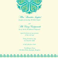 Wedding Invitations Amrapali Minty Teal Wedding