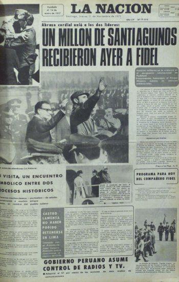 La Nación Fidel en Chile