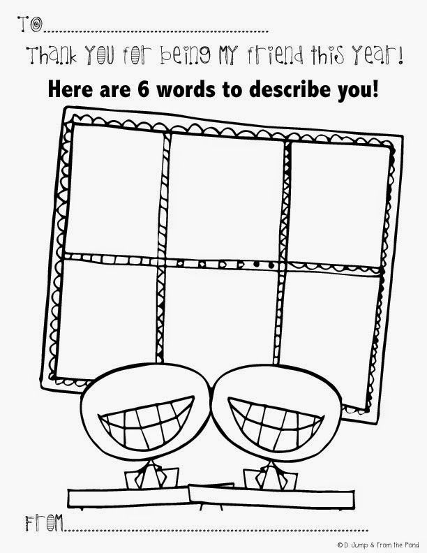 Free End of Year - Thank you for being my friend worksheet