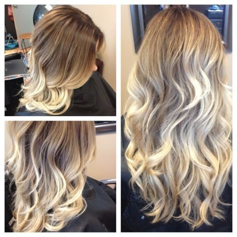 light brown to blonde balayage ombre before and after my. Black Bedroom Furniture Sets. Home Design Ideas