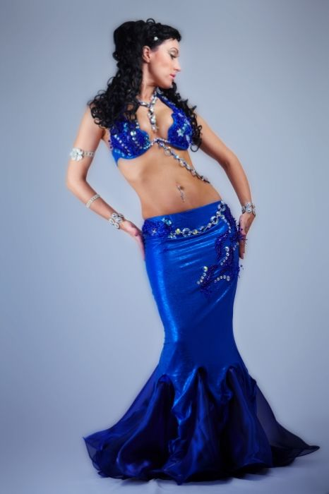 Russian belly dance costumes by Fatima Habib. Both stunning and mermaid like....two things I look for in my costumes ;)