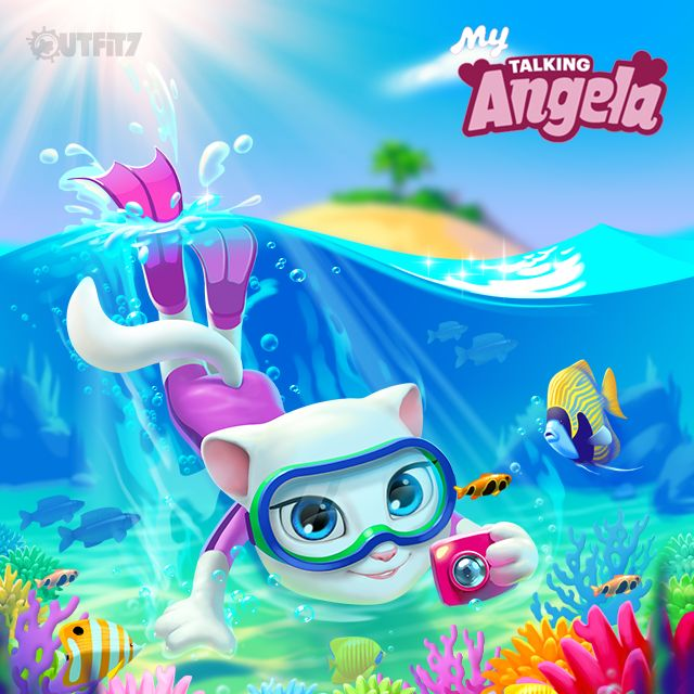 I'm ready for summer fun. xo, Talking Angela #TalkingAngela #MyTalkingAngela #LitleKitties #sun #summer #app #game #best
