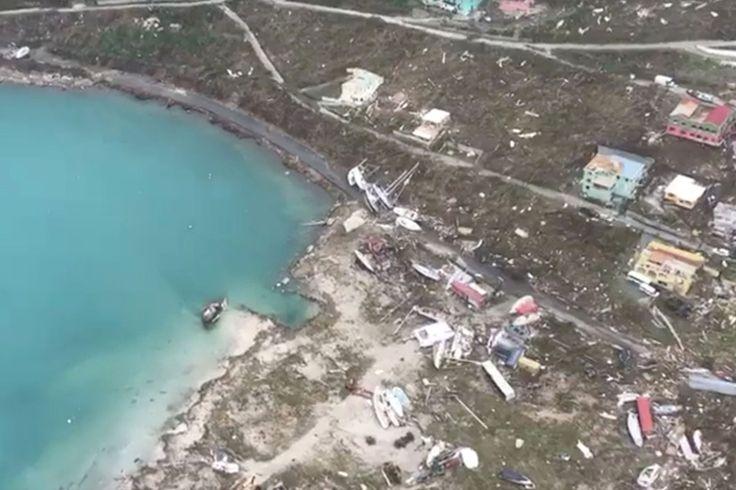 Imagem aérea mostra rastro de destruição deixado pelo Furacão Irma nas Ilhas Virgens