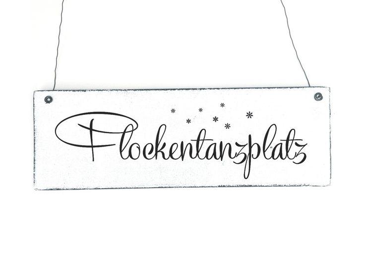 Flockentanzplatz t rschild dekoschild vintage von d rpkind auf - Dawanda turschild ...