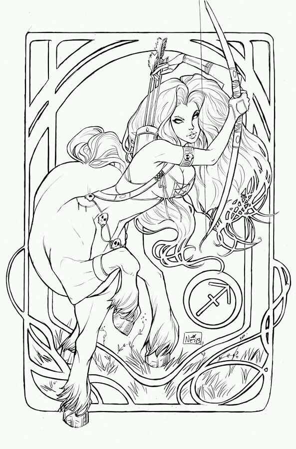 116 best Zodiac Signs Coloring Pages images on Pinterest