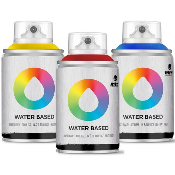 Montana MTN Colors - Water Based Spray Paint Mini Pack - 3 x 100ml Cans (Blue, Red, Yellow)  Arts, Crafts & Sewin
