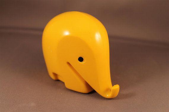 Spardose Elefant Drumbo Elefant Spardose gelb Luigi Colani Designklassiker der 70er Jahre Größe S 70s money box 9 cm x 7cm