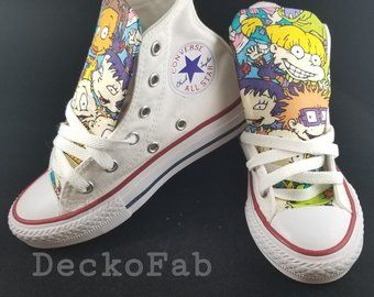 4776348115 Rugrats Inspired Converse Chuck Taylor Shoes   Unisex   Women s   Men s    Youth