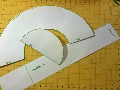 How to make your own floppy sunhat pattern. Gonna use this to make a scarecrow…