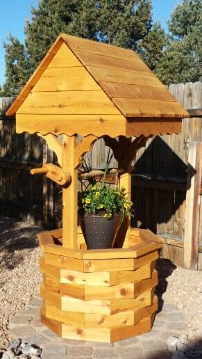 Diy Wishing Well Planter My Projects Pinterest