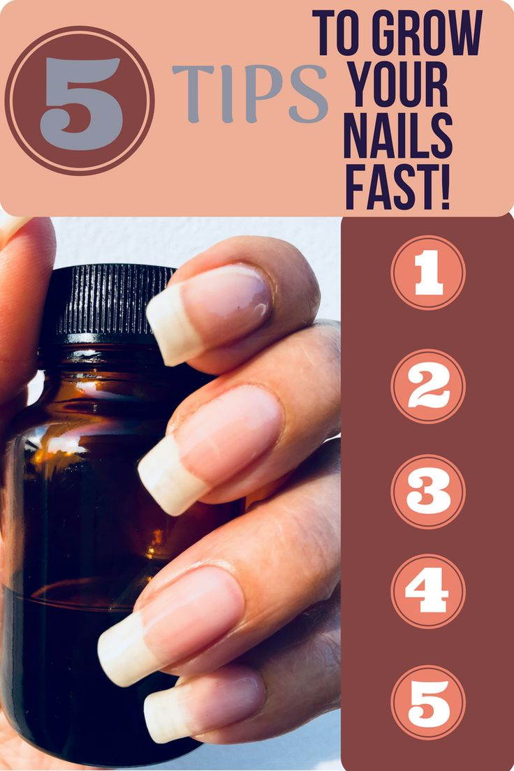 5 Tips To Grow Your Nails Fast! How to grow your nails long, strong + healthy. H…