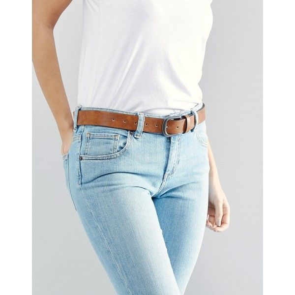 ASOS Vintage Tan Jeans Belt ($13) ❤ liked on Polyvore featuring accessories, belts, brown, plus size, adjustable belt, vintage brown belt, vintage belt, asos curve and brown belt