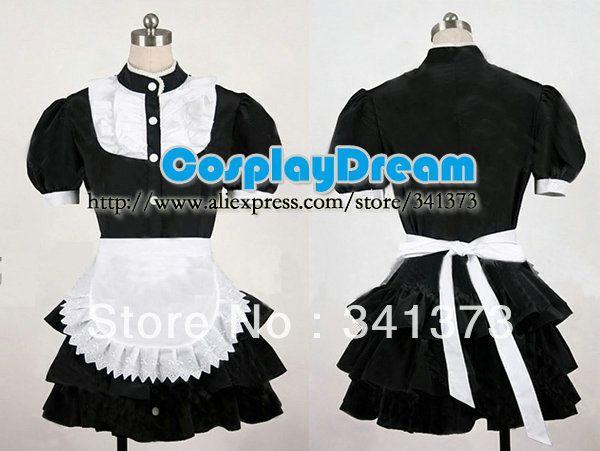 Fantasia Lolita empregada traje cosplay feitos belo clássico serviço de limpeza