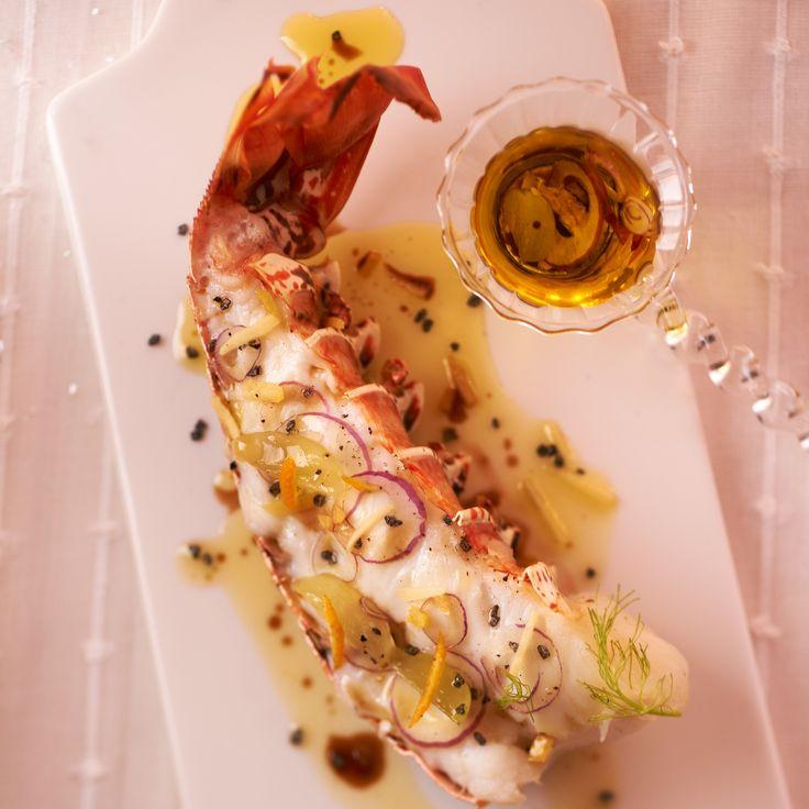 Découvrez la recette Langouste grillée saveur acidulée sur cuisineactuelle.fr.