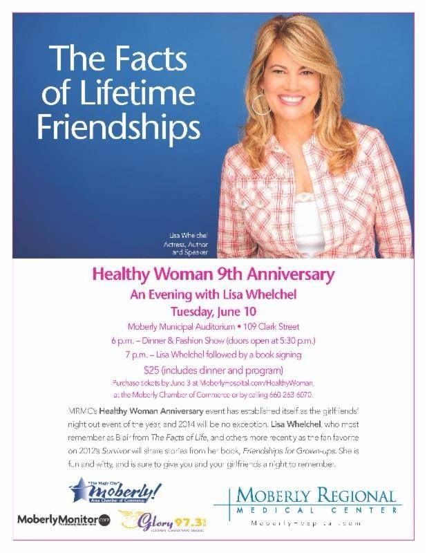 Moberly Healthy Woman - we are going this evening!