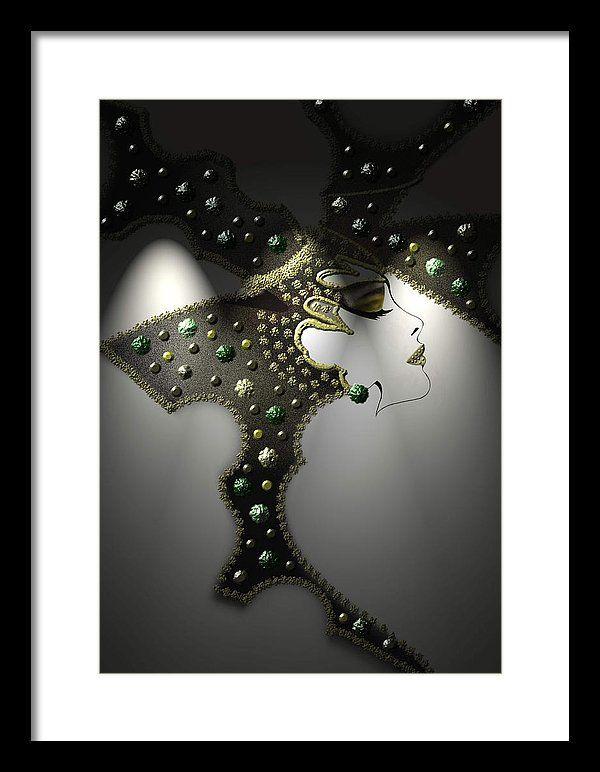 Glitter Framed Print featuring the digital art Glam by Muge Basak