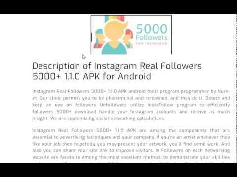 Instagram Real Followers 5000+ 1 1 0 APK for Android Free