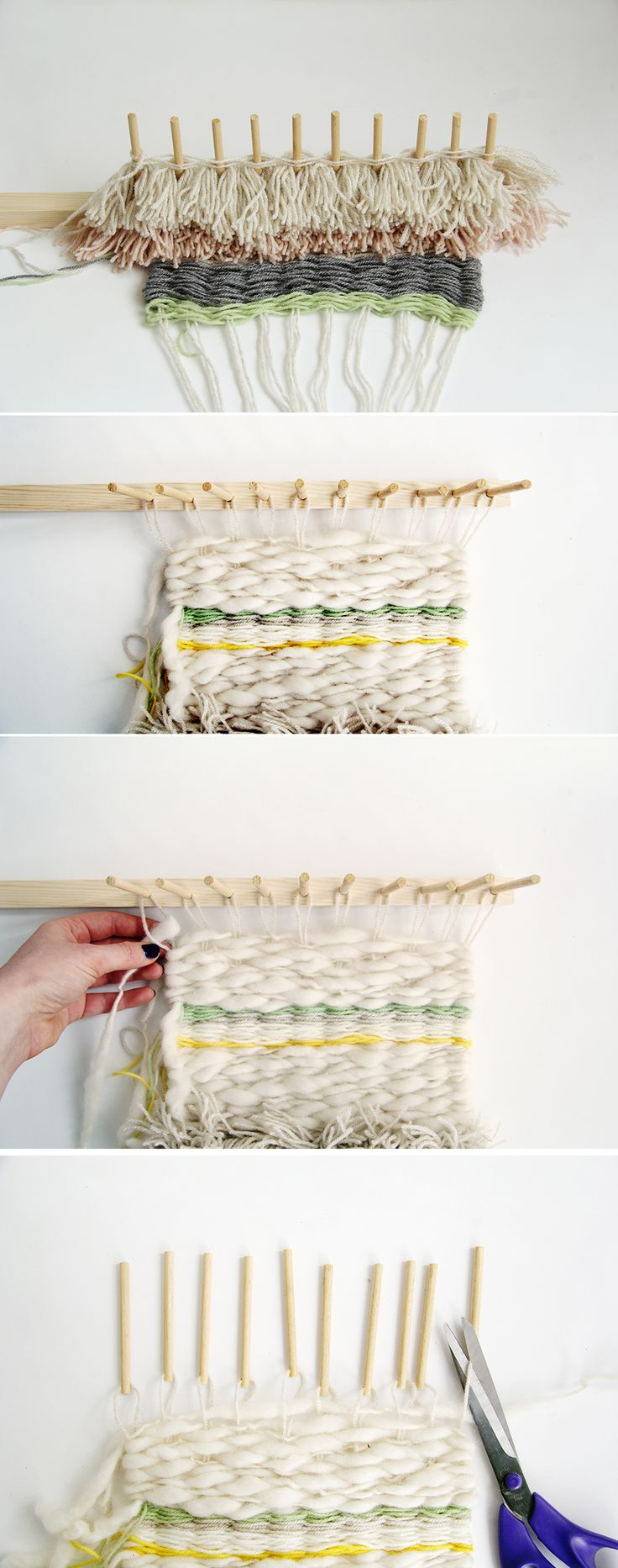 Fall For DIY Woven Wall Hanging Tutorial 4