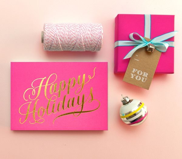 happy holidays + for you | sugar paper