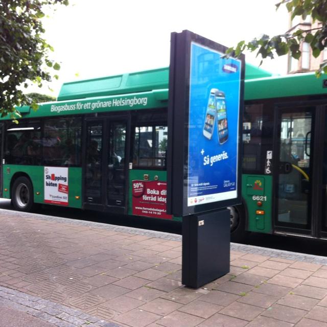Biogas fuelled bus, Helsingborg
