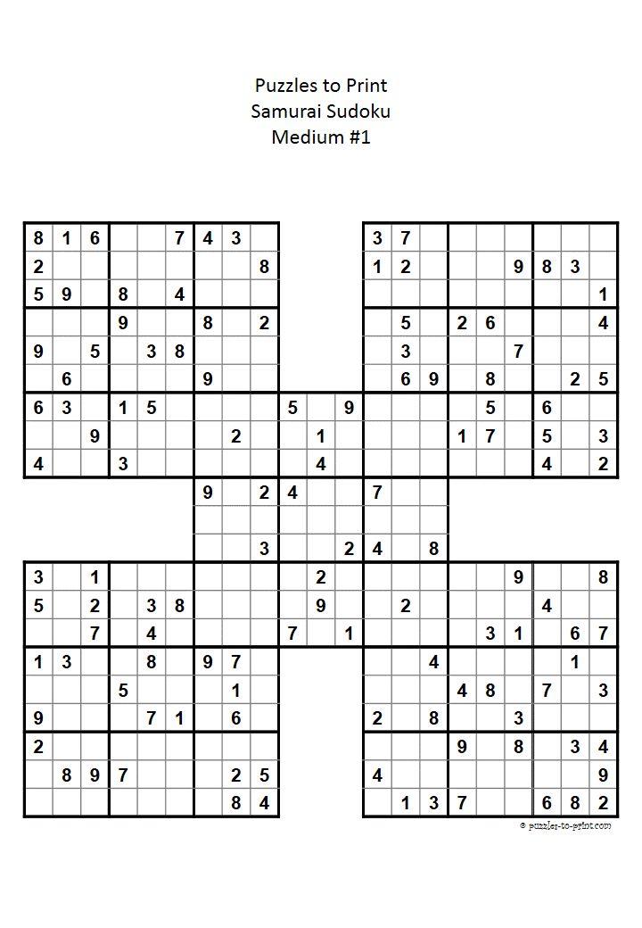Ready to print PDF file for a medium difficulty Samurai