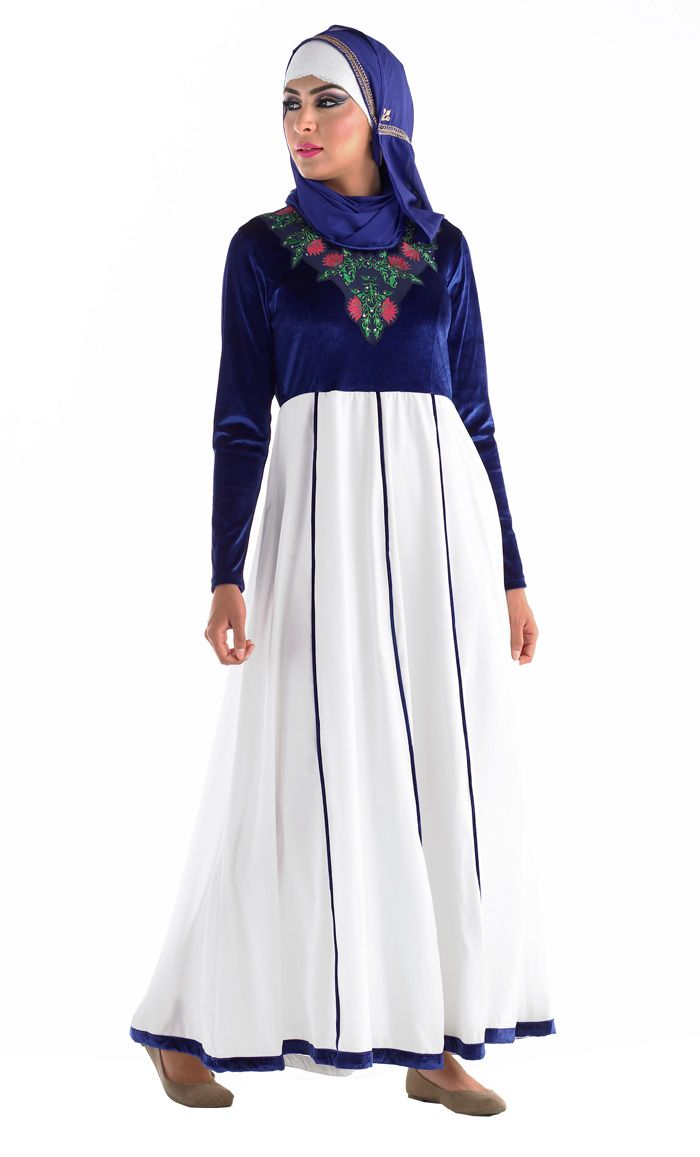 This abaya reminds me of traditional Finnish dress.