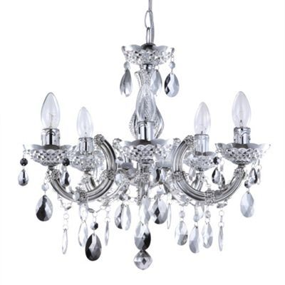 Marie Therese Dual Mount Silver Chandelier at debenhams.com