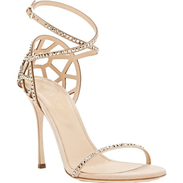 Sergio Rossi Puzzle Ankle-Strap Sandals (1,590 CAD) ❤ liked on Polyvore featuring shoes, sandals, heels, boots, schuhe, suede sandals, ankle strap shoes, wrap around ankle sandals, open toe sandals and ankle wrap shoes