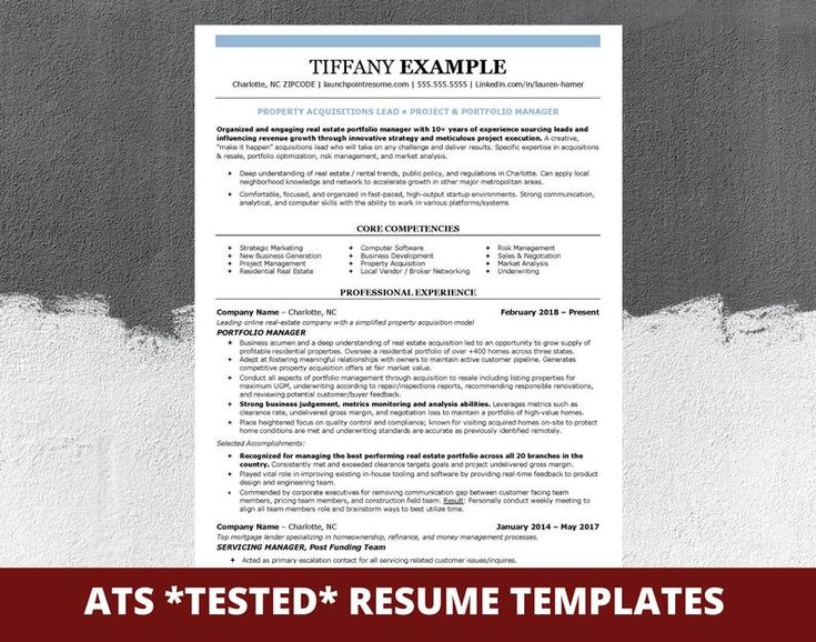 ATS Professional Resume Template for Word Modern Resume