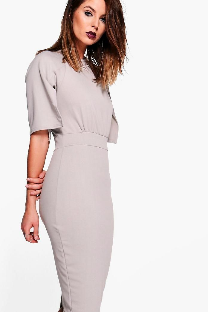 239550f06d8 Split Sleeve Detail Wiggle Midi Dress | Reese Fall in Fashion ...