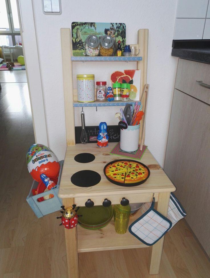 Kinderküche, Spieleküche, IKEA Stuhl, selbstgemacht