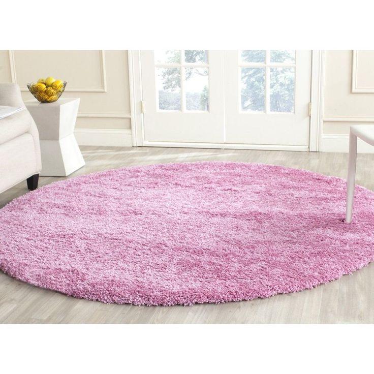 Safavieh California Cozy Plush Pink Shag Rug (4' x 4' Round) (SG151-3232-4R), Size 4' (Polypropylene, Solid)