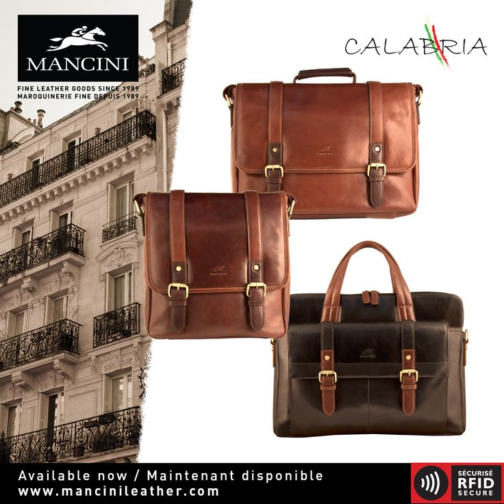 Our CALABRIA Collection features elegant & durable  creations that showcase the natural  caracteristics of the finest quality vegetable tan leather. Featuring padded compartments to protect your tablet and laptop, this functional collection will fulfill all your business and personal needs with style.