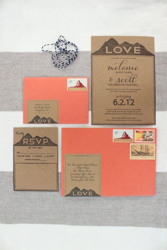LOVE Letterpress Wedding Invitations SAMPLE 49