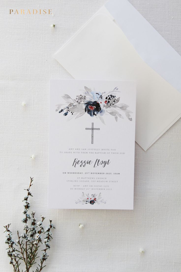 free online christening invitation making%0A Navy and Silver Boy or Girl Baptism Invitations  Christening Invitation   Printable Baptism Invitations or