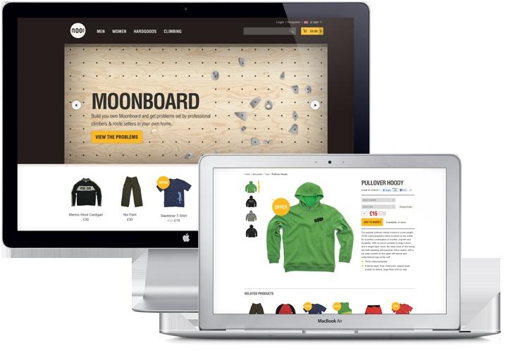 Moon Climbing e-commerce site