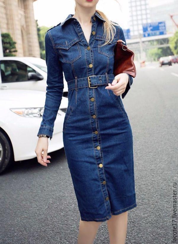 Пэчворк платья из джинсы