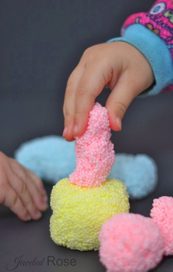 Homeamde Floam- this stuff is easy to make and so fun! {So much cheaper than the store bought stuff!}