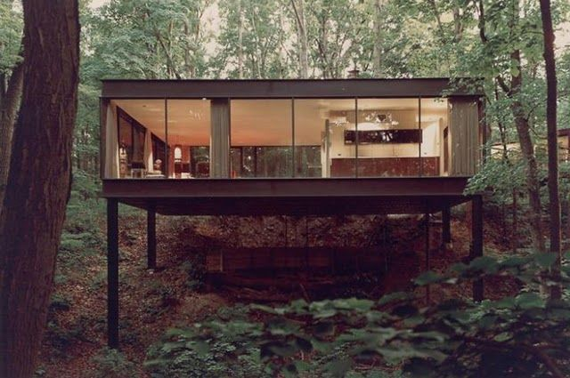 """Ben Rose House - The property consists of two structures; the main house designed by A. James Speyer, built in 1953 and the automobile pavilion designed by David Haid, built in 1974. The pavilion was featured in the 1986 film """"Ferris Bueller's Day Off."""""""