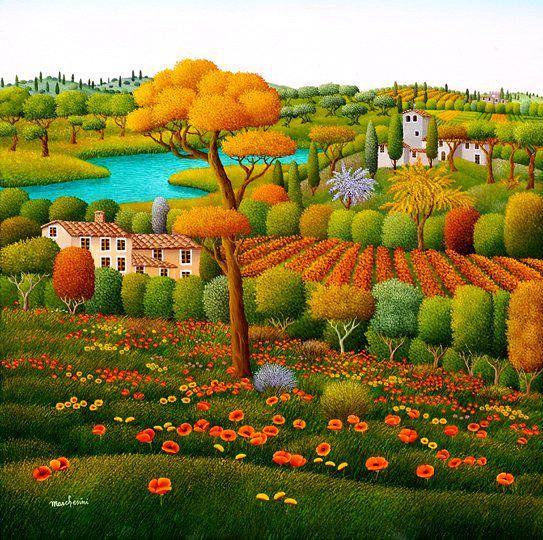 Cesare Marchesini. Primavera Toscana.