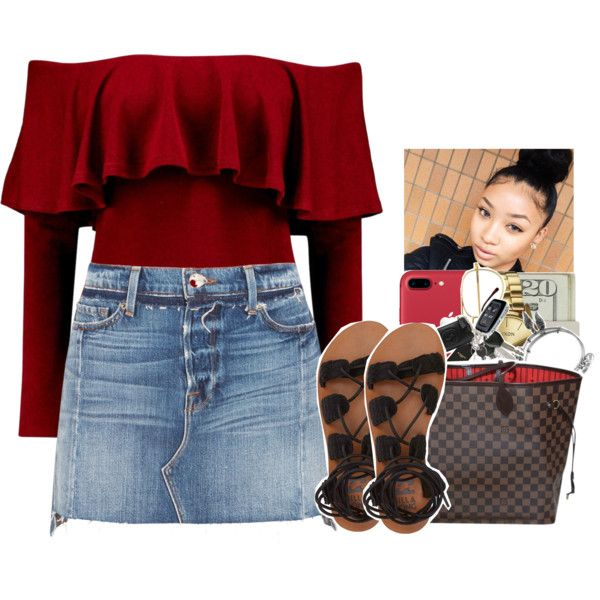 A fashion look from May 2017 featuring Frame mini skirts, Billabong sandals and Louis Vuitton handbags. Browse and shop related looks.