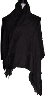 All in one scarf, shawl, blanket!   Colour: Black  Size: One Size