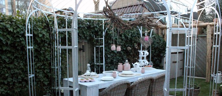31 best images about overkappingen in de tuin on pinterest gardens murcia and contemporary patio - Prieel tuin ...